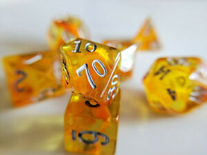Little-Dragon-Corp-Amber-Dice-7-Piece-RPG-Set