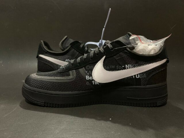 Off White x Nike Air Force 1 Low BlackCone White Black AO4606 001 Size 9.5 10