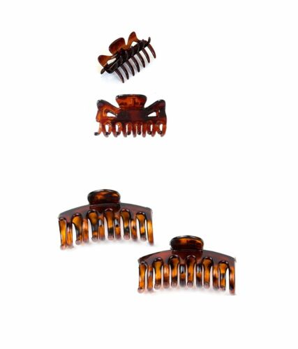 Small Tort Brown Hair Claw Clamp Clip Jaw Grip Butterfly Clips Hair Accessory