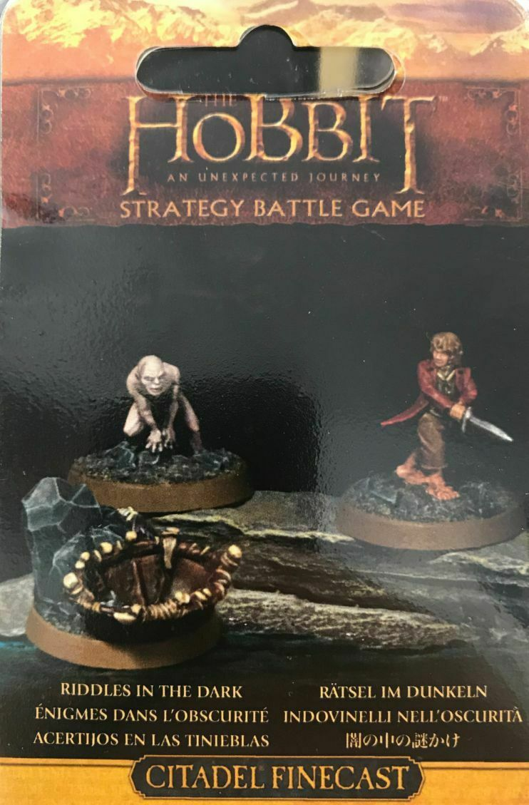 Hobbit Puzzles in the dark Games Workshop Lord of the Rings Bilbo Golum Lotr HDR
