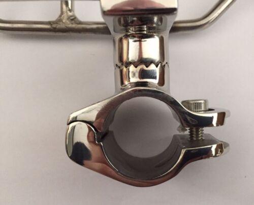 Adjustable Rod Holder Rail Clamp 25mm 316 Stainless 360 Horizontal /& Vertical