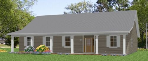 Custom House Home Build Plans Split Ranch 3-4 bed 2088 sf---PDF FULL PERMIT SET