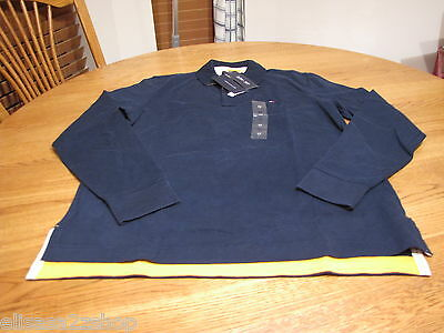 Men's Tommy Hilfiger Polo shirt long sleeve 7819721 M slim fit masters navy 410