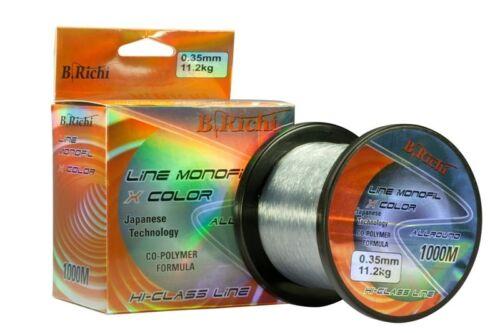 Monofilschnur  0.20mm-0,40mm 1m//0,02€ 1000m B.Richi Angelschnur