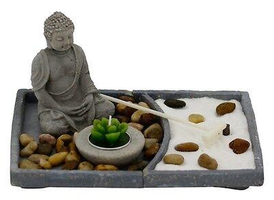 Buddha Garten ZEN Zement Feng Shui Dekoration 2.Wahl