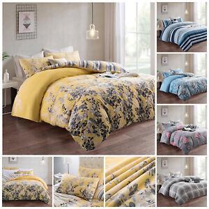Luxury Reversible Floral Duvet Quilt Cover Bedding Set Single Double King Size