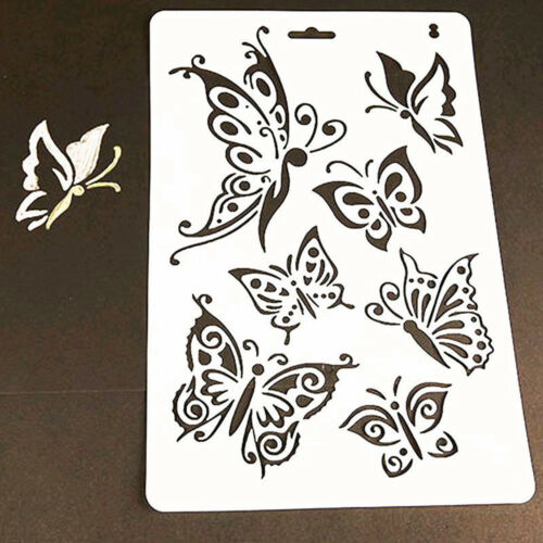 Craft Butterfly Stencils Template Painting Scrapbooking Stamps Album DIY New