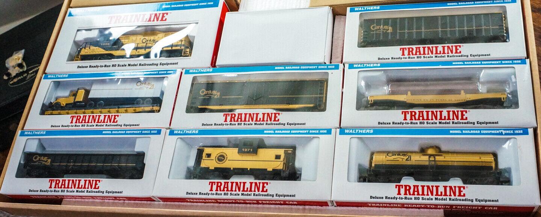 Walthers siglo 21 25TH aniversario Train Set Nuevo Ho línea 7 coches + Locomotora