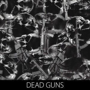 Dead Guns Skulls graphic Hydrographic Film dip stick hydro