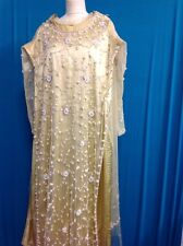 Vintage 1920s Style Flapper Dress Embroiderd With Beads Style Golden Dress