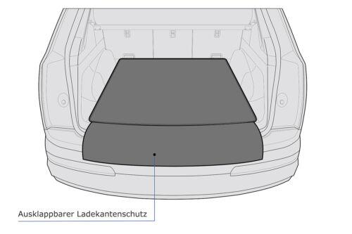 2-teilige Kofferraummatte mit Ladekantenschutz für BMW X3 F25 X4 F26 xDrive