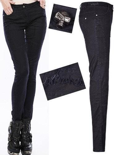 Jeans slim pantalon gothique punk lolita destroy classe tête de mort Punkrave