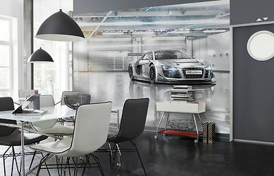 Wall Mural Photo Wallpaper AUDI R8 Sports Car Boys /& Living Room Silver 368x254
