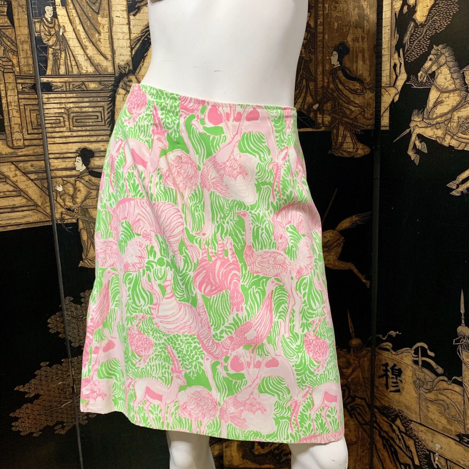 Lilly Pulitzer Vintage Cotton Skirt Animal Print