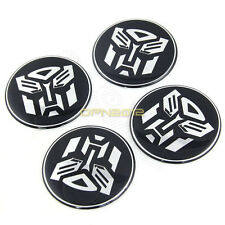 4x 55mm Alloy Transformers Autobots Car Tyre Wheel Center Hub Caps Decals Cover