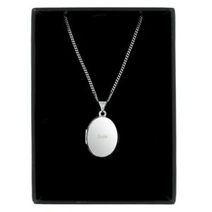 5c4f6d063 Image is loading Personalised-Engraved-Sterling-Silver-Oval-Name-Locket- Pendant-