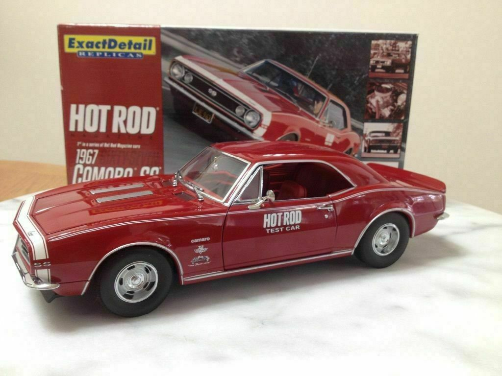 1 18 Exact Detail 1967 Chevy Camaro SS Hot Rod Magazine test car nuevo rareza