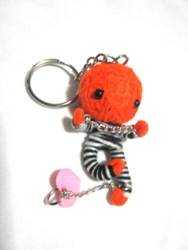 Thief  Voodoo String Doll  Keychain Ornament Accessory Gift Thai handmade