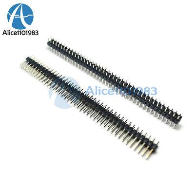 2PCS 40Pin 2.54mm  Double Row Straight Male Pin Header Strip PBC Ardunio