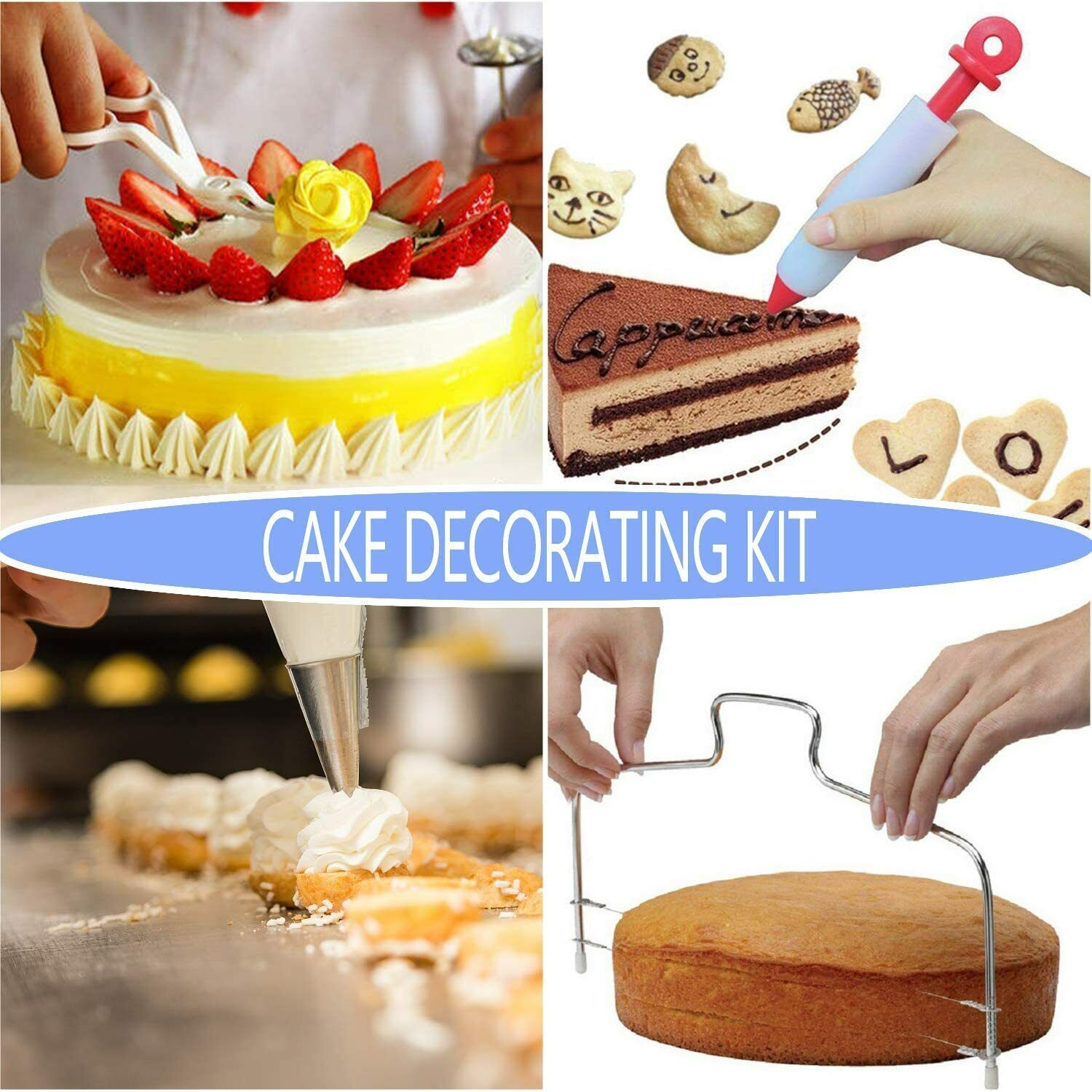 Homeries Cake Decorating Supplies Kit 36 Piece Set Turntable Icing For Sale Online Ebay