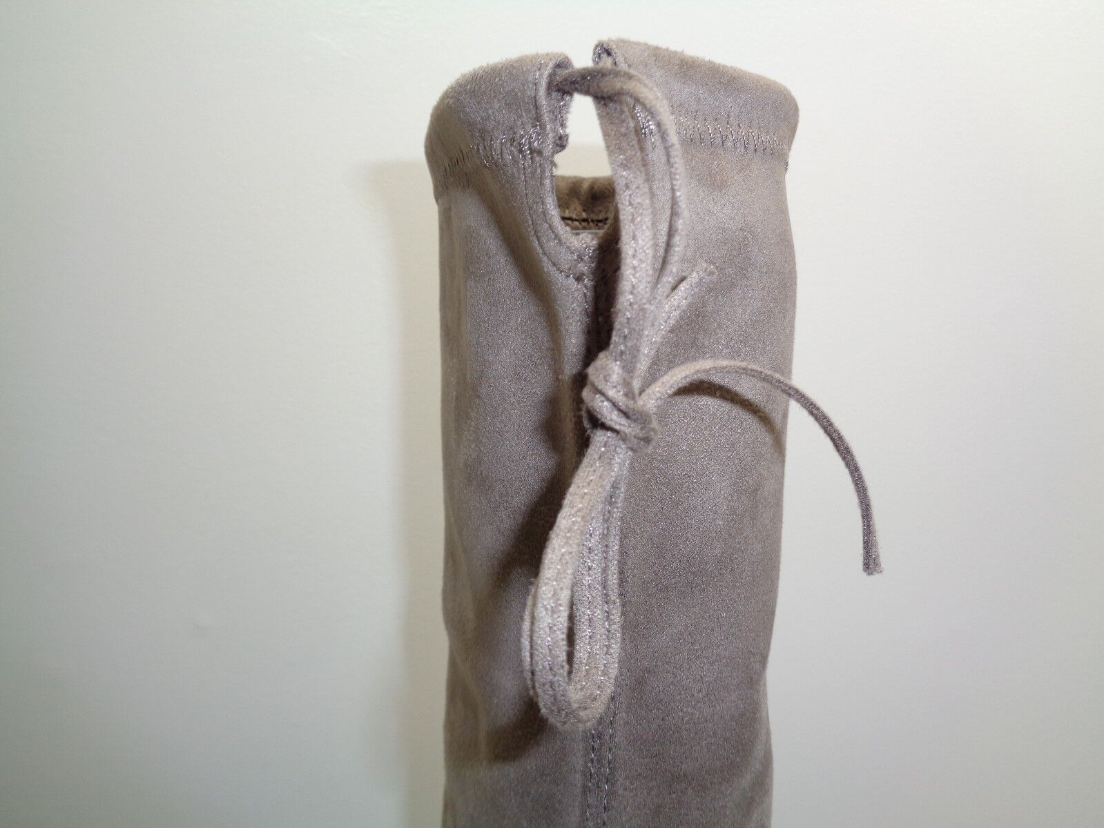 Steve Madden Sz 8.5 GORGEOUS Taupe Fabric Fabric Fabric Over Knee Heels Boots New Womens shoes 840cd9