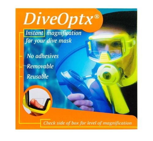 "1.6"" Dive Optx Stick on Bifocal Lenses Scuba Dive Mask Swimming or Ski Goggles"