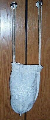 Antike Kleines Kommunionstäsch'chen Tasche Beuteltasche Kommunion Tasche Hell In Farbe