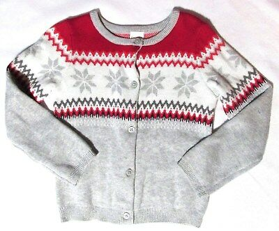 NWT Gymboree NORTH POLE PARTY Fair Isle Cardigan Sweater Toddler Girls