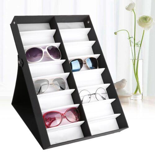 16//18 Solts Sunglasses Glasses Storage Display Case Organizer Box Holder Stand