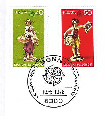 Brd 1976: Europamarken Kunsthandwerk Nr 890+891 Mit Bonner Sonderstempel! 1a 153