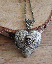 xxl photo medaillon Totenkopf gothic Herz steampunk vintage skull crossbone gift