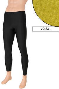 ab4de65dc68a Das Bild wird geladen Herren-Leggings -Gold-elastisch-stretch-shiny-hauteng-lange-