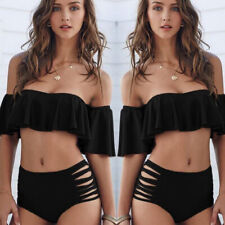 9cc87044050b83 item 6 Women Off Shoulder Ruffle Bikini Set Monokini Swimsuit Swimwear  Bathing Suit US -Women Off Shoulder Ruffle Bikini Set Monokini Swimsuit  Swimwear ...