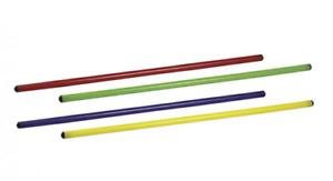 Asta ginnastica pvc SCHIAVI SPORT 120 cm giallo 25 mm atletica sbarra bastone