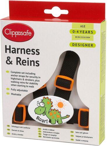Clippasafe DESIGNER HARNESS /& REINS DINOSAUR Child Harness BN