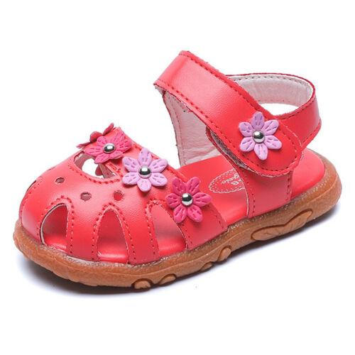 Newborn Toddler Little Kid Baby Girls Flower Single Princess Party Shoes Sandals