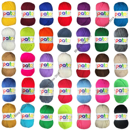 Nouveau Pato Everyday DK Double Tricot Knitting Crochet Yarn 100 G boule arcrylic laine