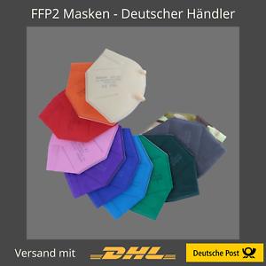 5 Stk FFP2 Maske Bunt Farbig 5-Lagig Atemschutz HOHE QUALITÄT