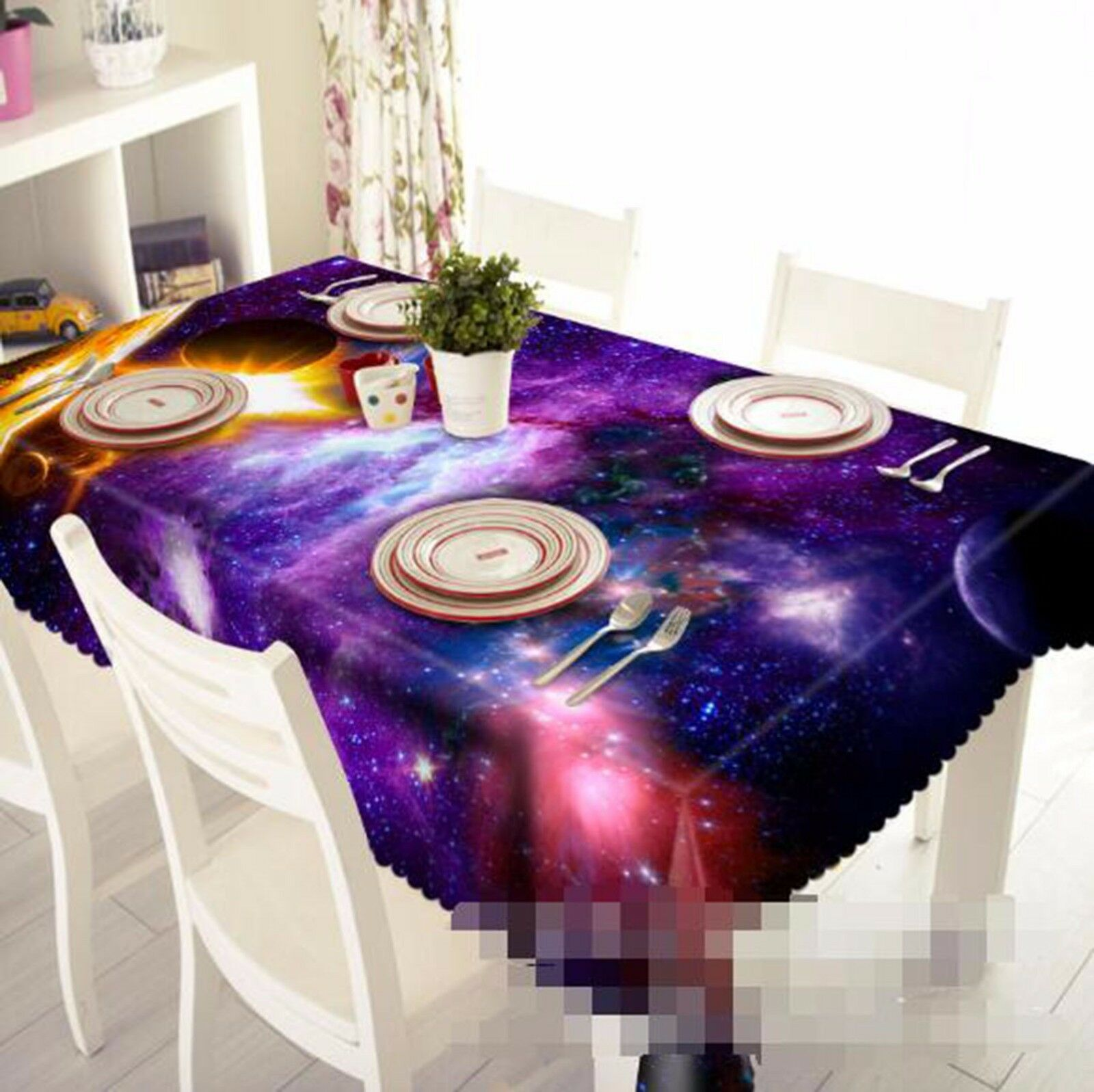 3D espacio Mantel Mantel Paño Cumpleaños Fiesta AJ Wallpaper Reino Unido Limón