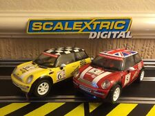Scalextric Digital Mini Coopers No5 & No6 Mint Condition No Missing Parts