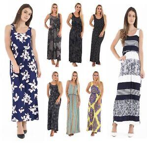 60% de liquidación auténtico auténtico super popular Detalles de Moda Mujer Racer Toga Largo Fiesta Verano Vacaciones Vestido  Jersey Talla Grande