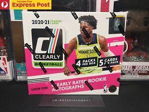 2020-21 PANINI BASKETBALL NBA DONRUSS CLEARLY HOBBY BOX - 20 CARDS - NEW SEALED
