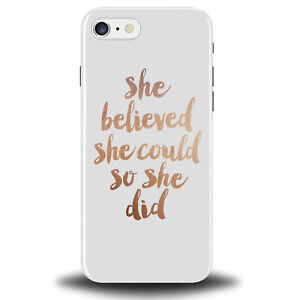 low priced 06b4e 5a490 Details about White and Rose Gold Quote Phone Case Cover Tumblr Feminist  Girl Power Cheap 466