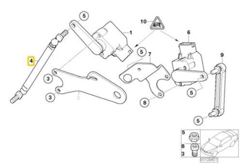 Genuine BMW 5-Series Front Angle Joint Headlight Vertical Sensor OEM 37146772727