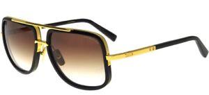 6312b8294c Dita MACH-ONE Black Shiny 18K Gold Brown Shaded (B-BLK-GLD A ...