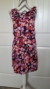 Womens-BANANA-REPUBLIC-Floral-Sleeveless-Dress-Size-2