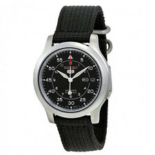 Seiko Men's SNK809 Seiko 5 Automatic Stainless Steel Watch Black Canvas Strap