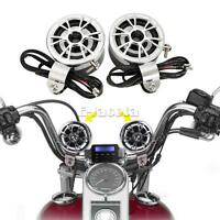 2x Motorcycle Handlebar Speakers For Kawasaki Vulcan Classic Nomad Drifter 1500