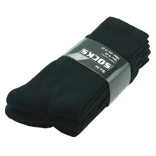 Wholesale Lot Solid Black Men/'s Crew Athletic Sport Socks Size 9-11 10-13