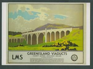 LMS-Railways-Greenisland-Viaducts-County-Antrim-Postcard-z-154
